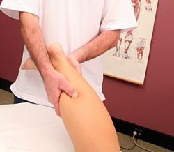 giving a leg massage