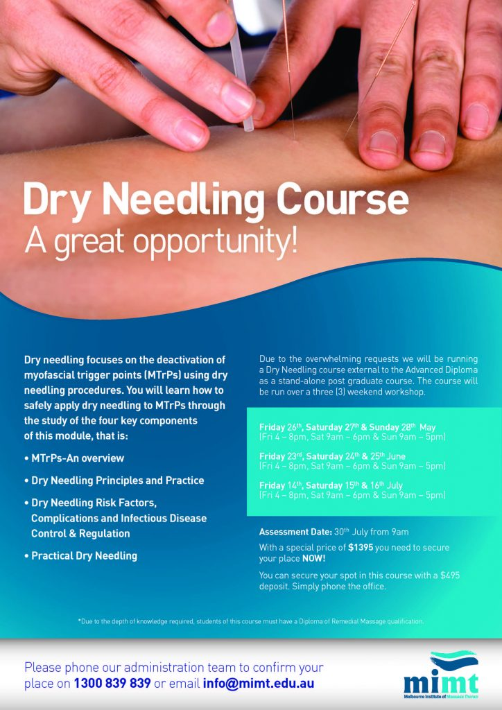 Dry Needling Course in Melbourne | MIMT