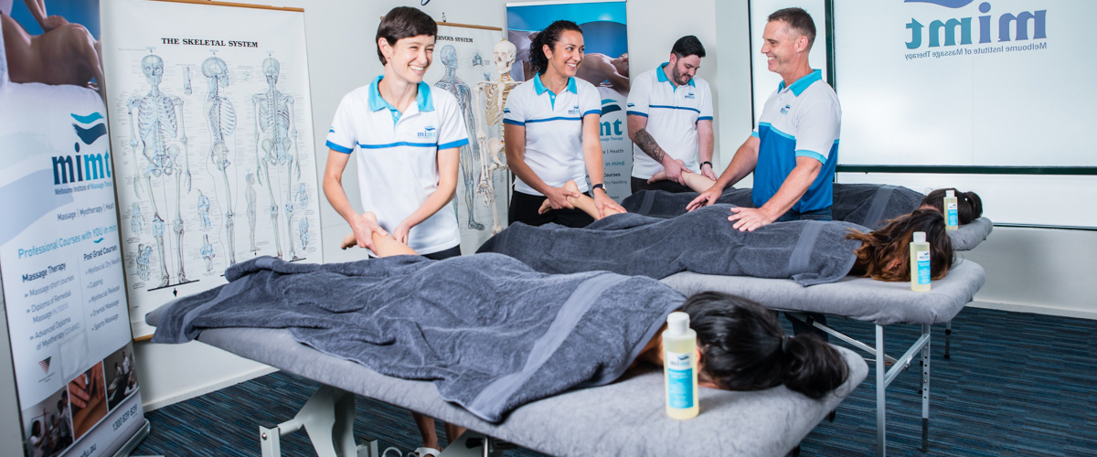 Massage Students at Melbourne Institute of Massage Therapy & Myotherapy