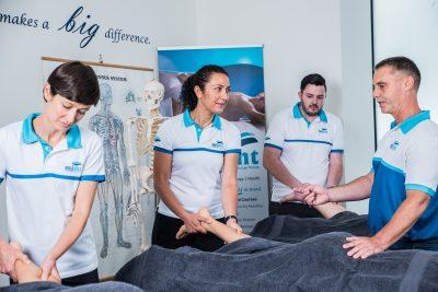 massage instructor teaching class
