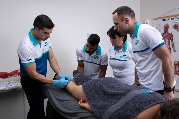 student performing Myotherapy